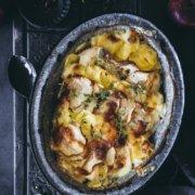 Herzhafter Auflauf mit Kartoffeln und Apfel