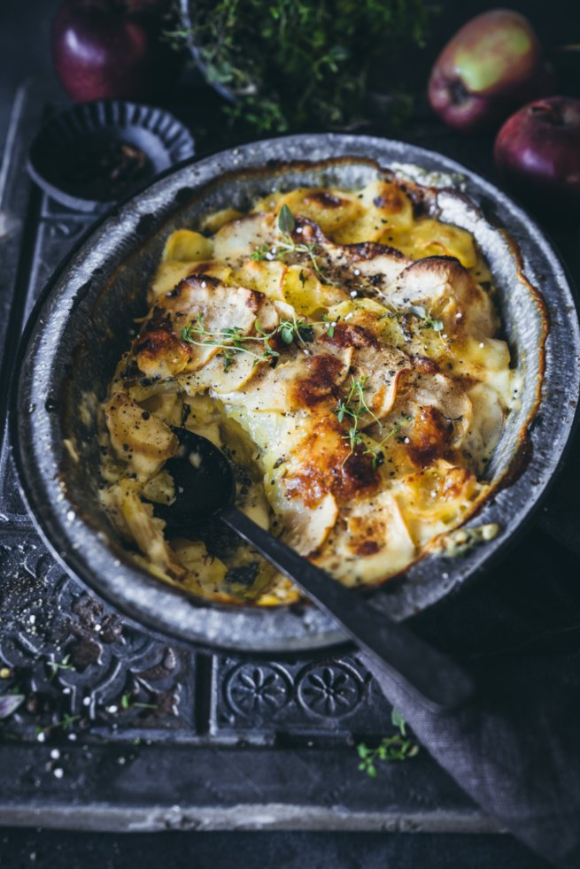 Kartoffel Apfel Gratin