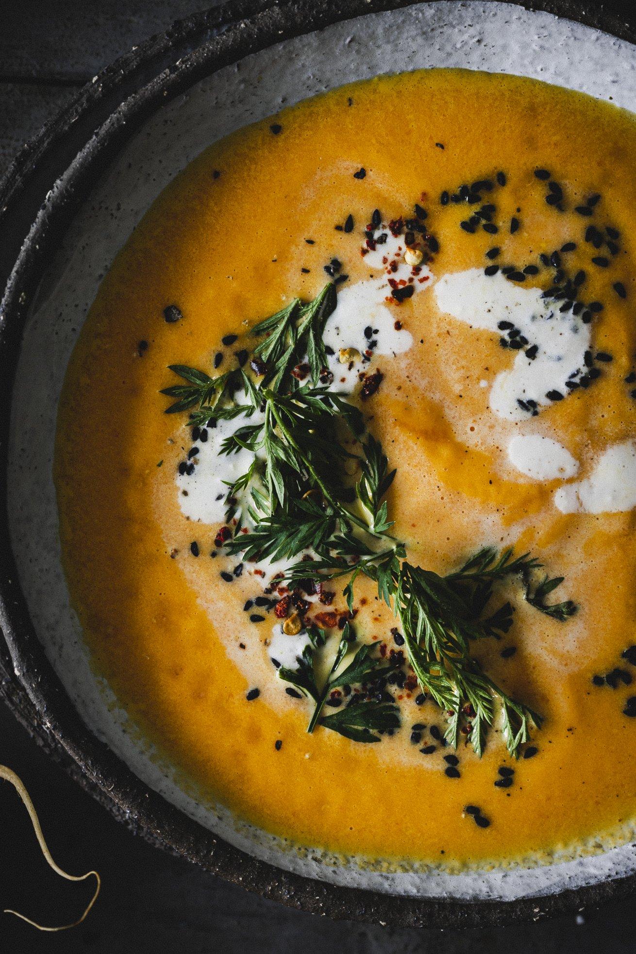 Karottensuppe mit Kokosmilch