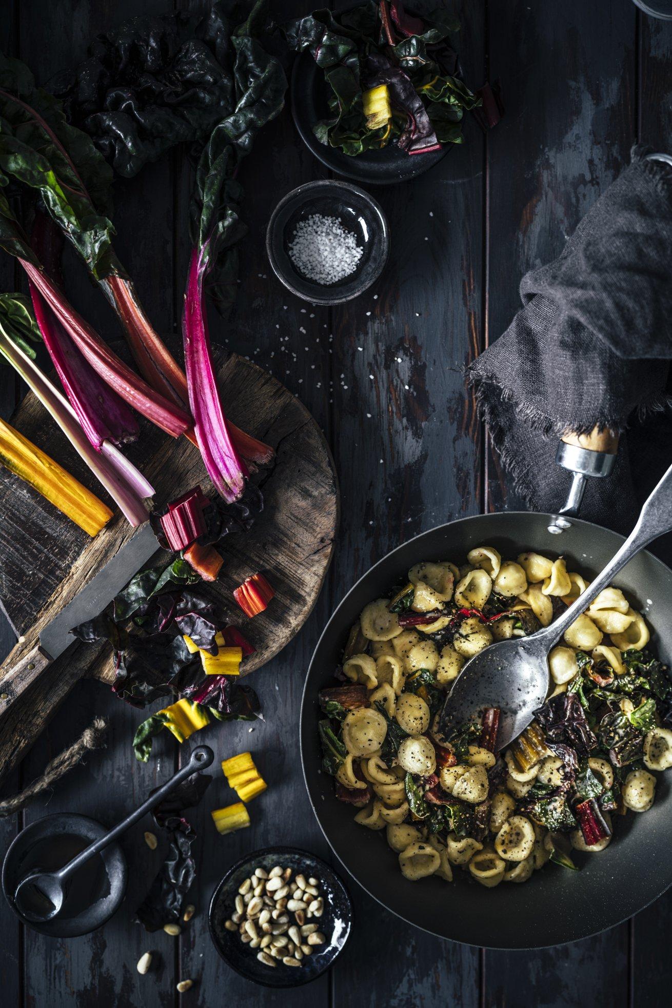 Mangold Orecchiette mit Gorgonzola