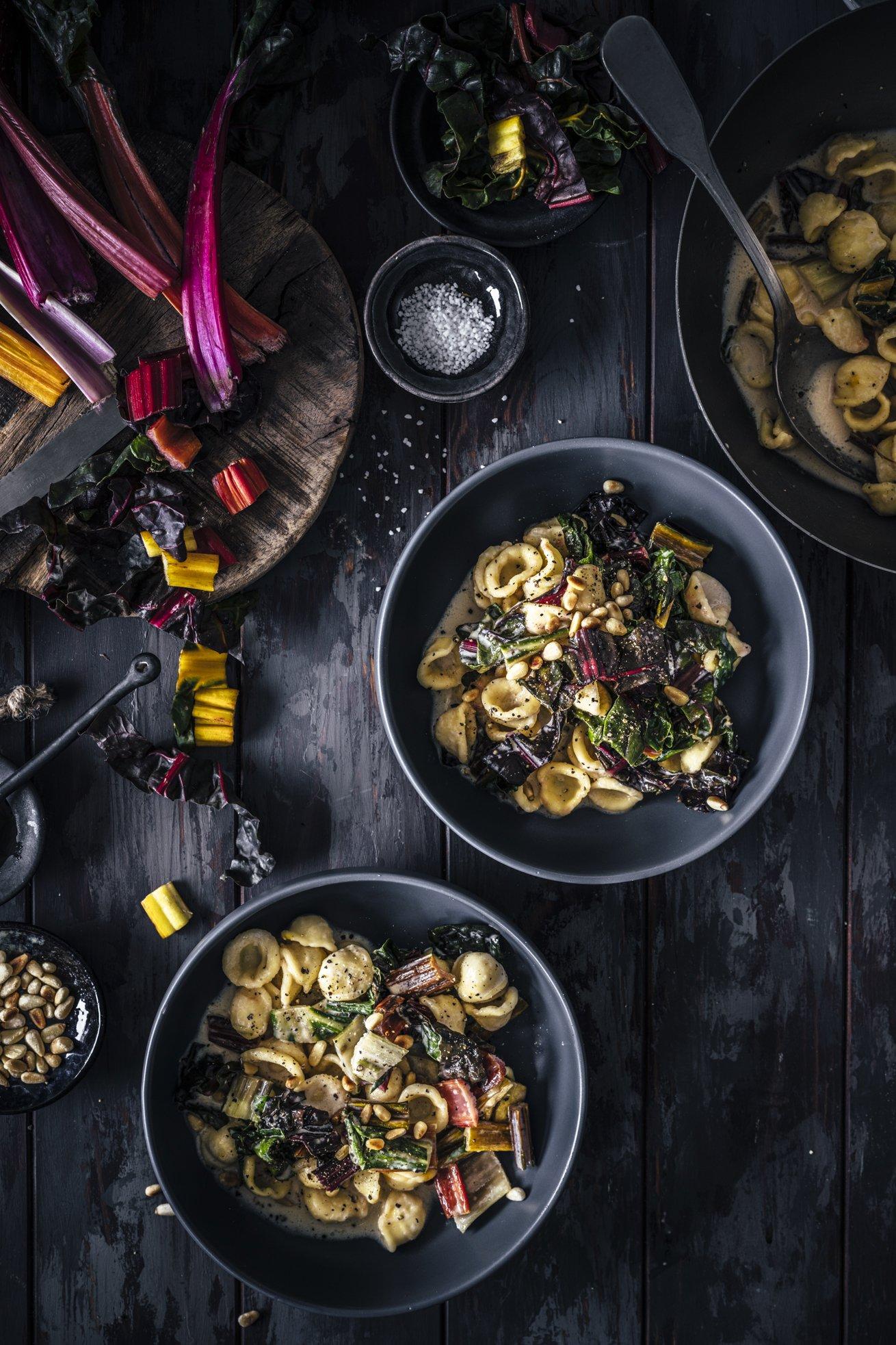 Orecchiette mit Mangold und Gorgonzola