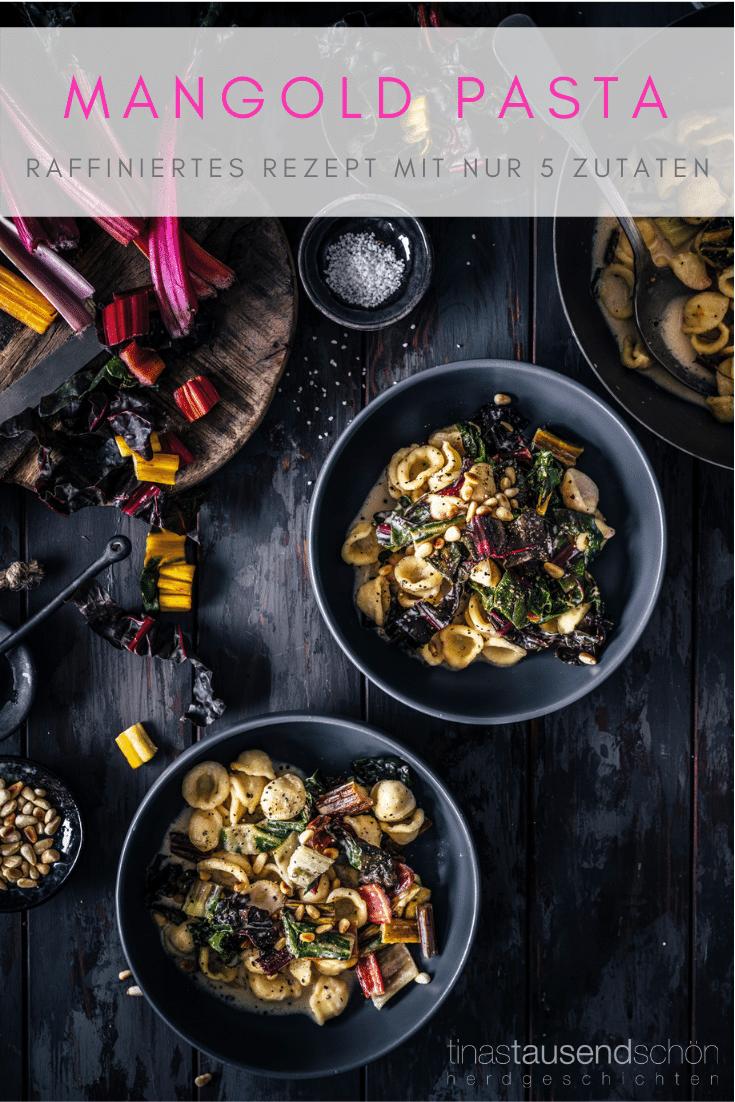 Pasta mit Mangold und Pinienkernen