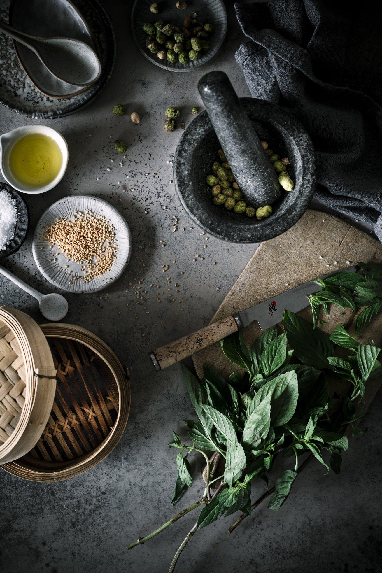 Asiatisches Pesto mit Wasabi Nüssen