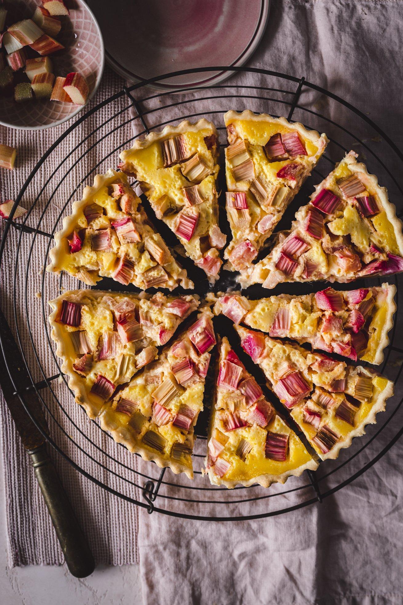 Rhabarber Kuchen mit Buttermilch