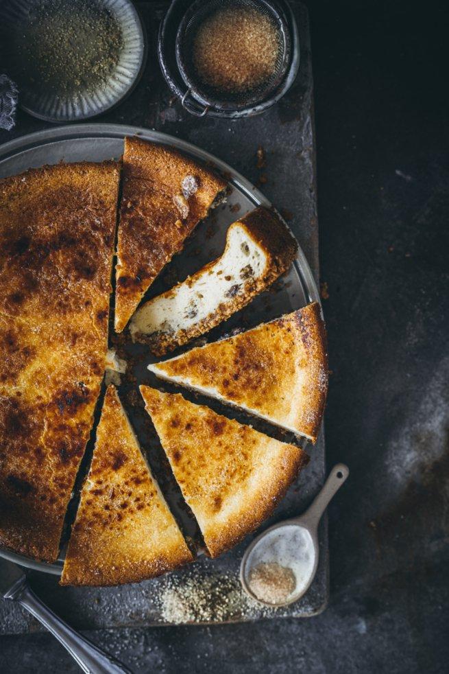 Ricotta Cheesecake mit Brandy
