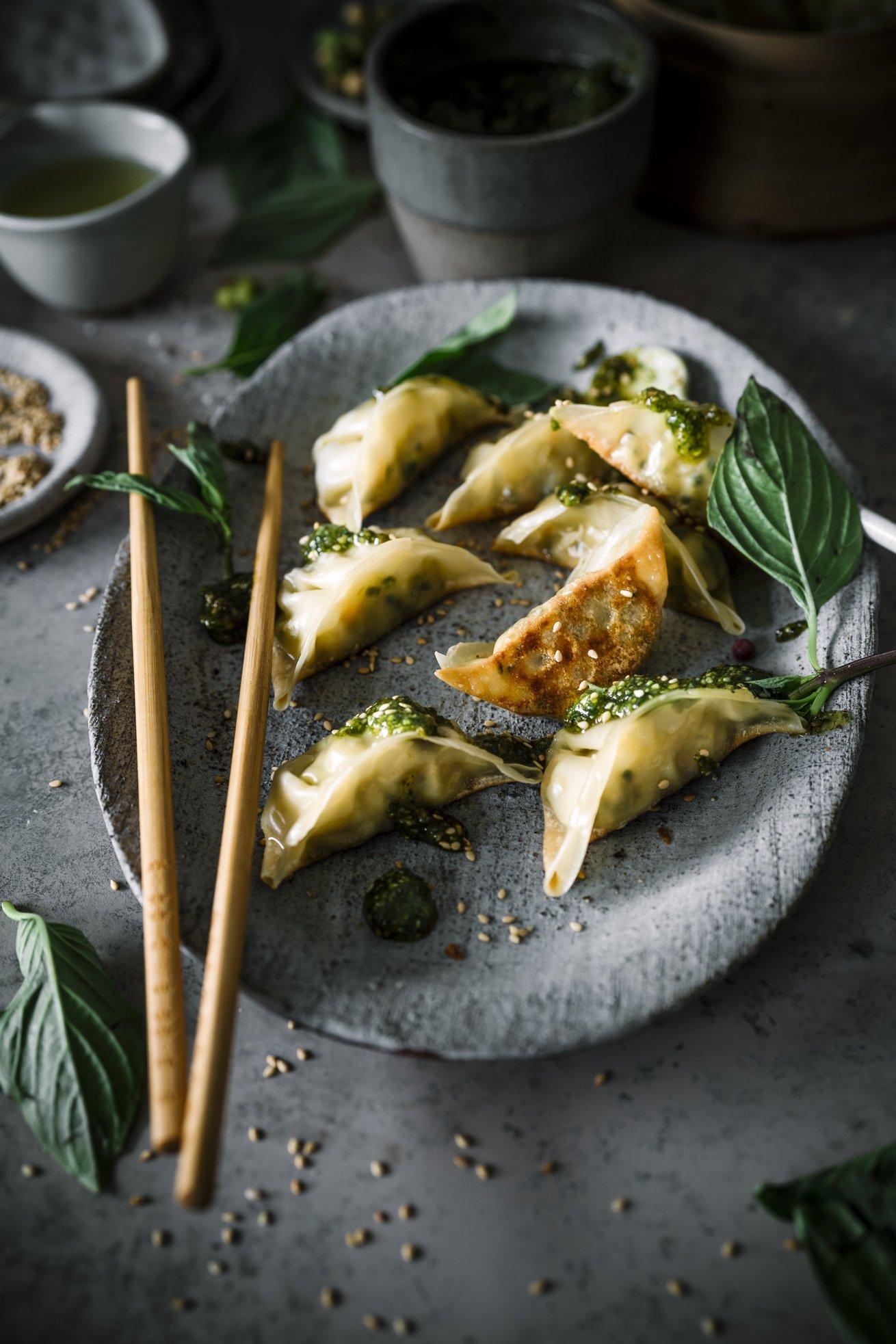 Gyoza mit Asia Pesto