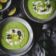Frühlings Erbsen Minz Suppe
