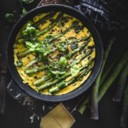 Omelett Rezept mit Bergkäse und Spargel