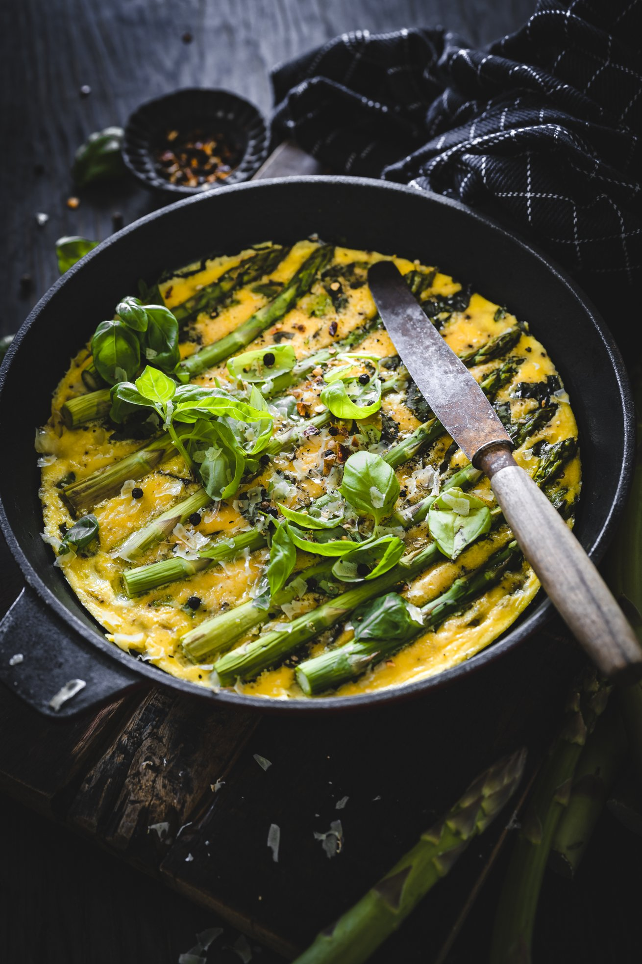 Rezept Spargel Omelett mit Käse