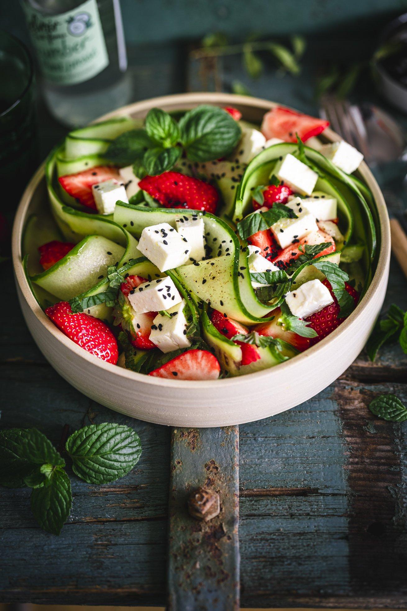 Erdbeer Gurken Salat