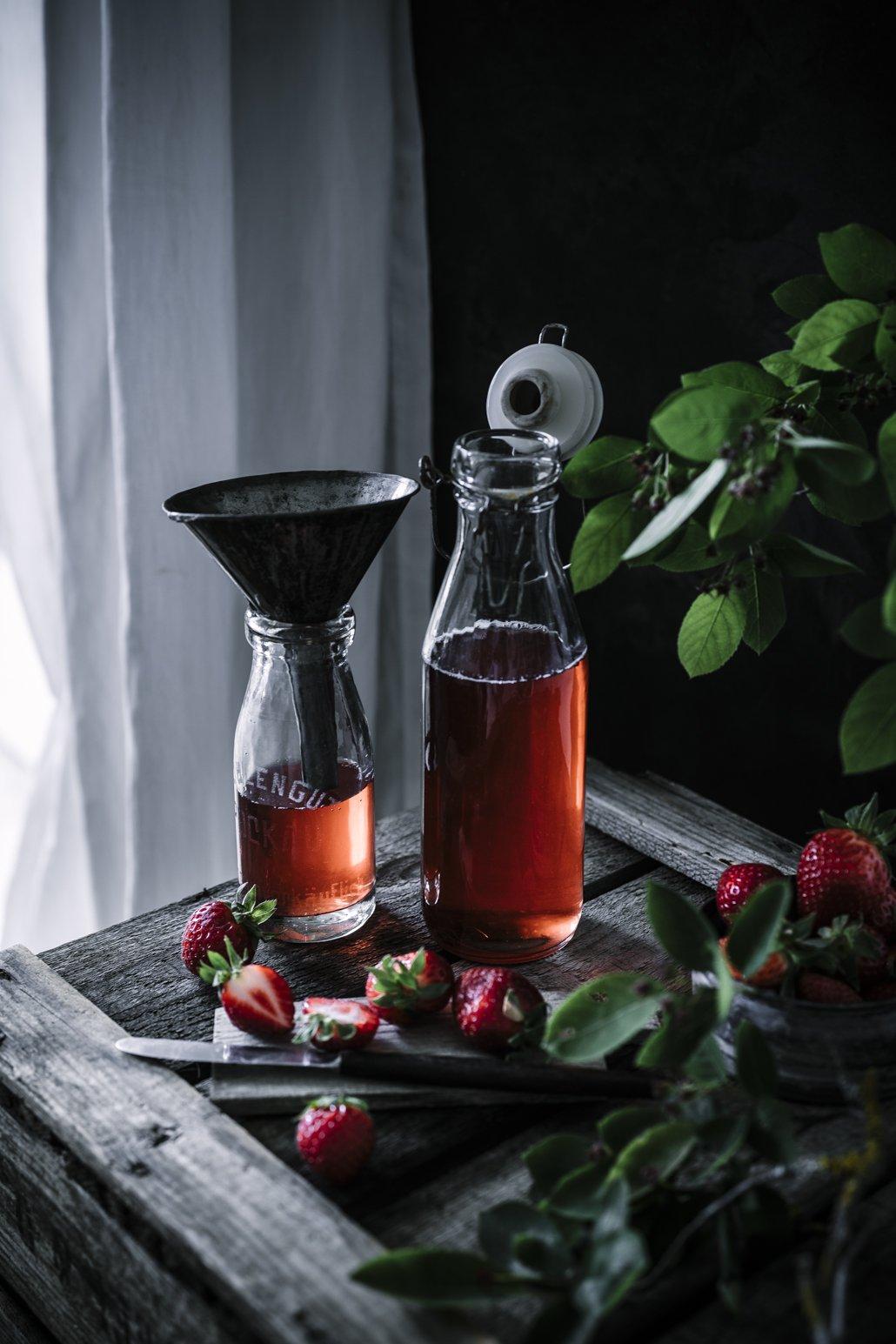 Erdbeer Minz Sirup