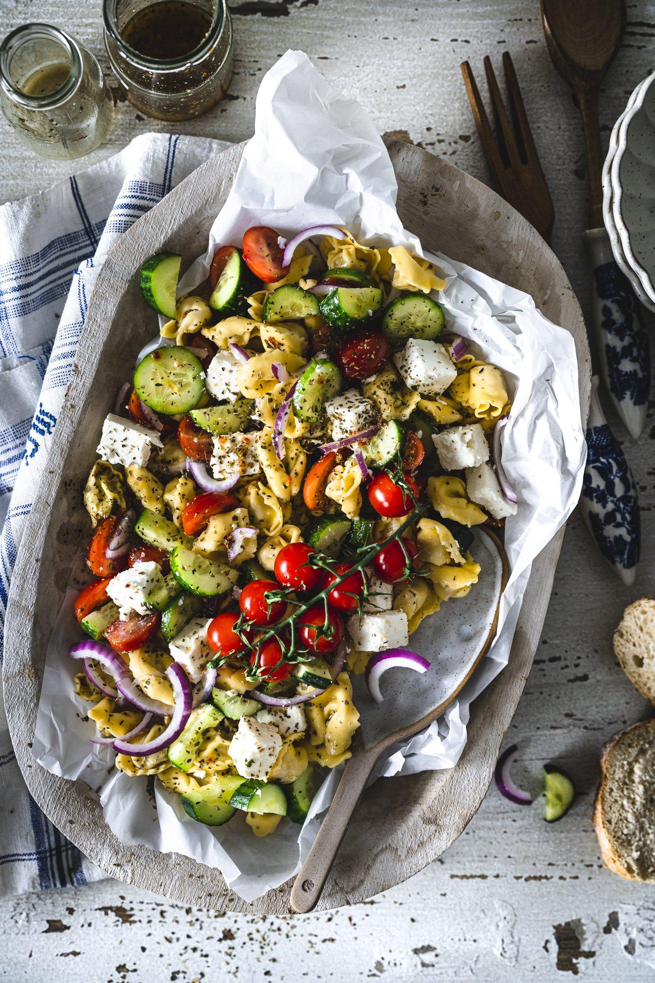Grillbeilage Tortellini Salat