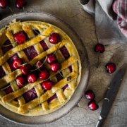 Cherry Pie mit Vanille Eis