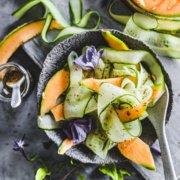 Gurken Melonen Salat