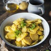 Traditioneller schwäbischer Kartoffelsalat