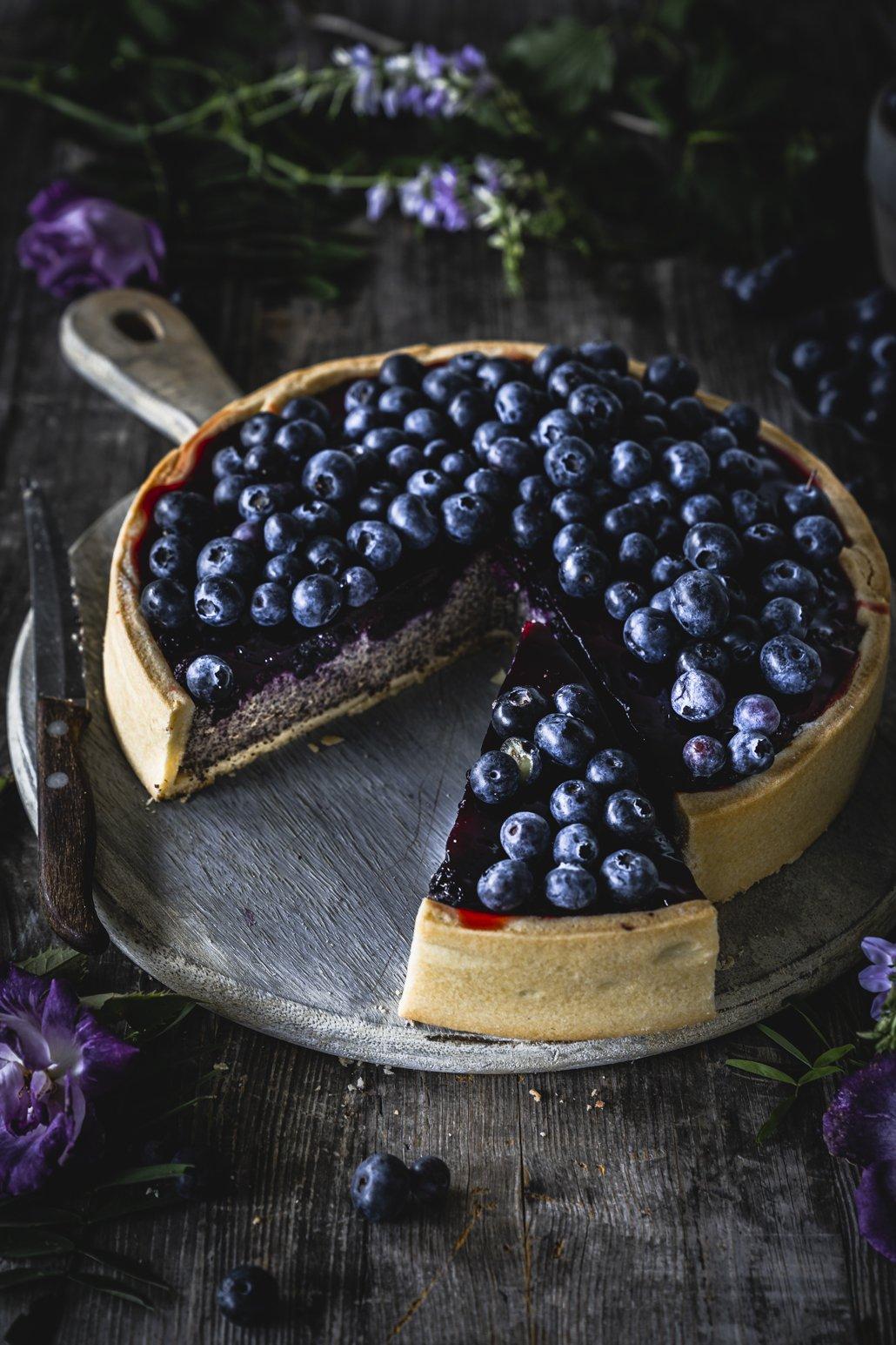 Heidelbeer Quark Kuchen