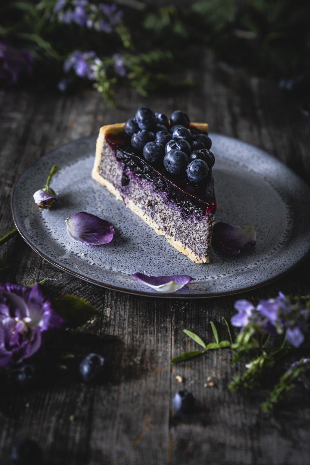 Heidelbeer Kuchen mit Quark