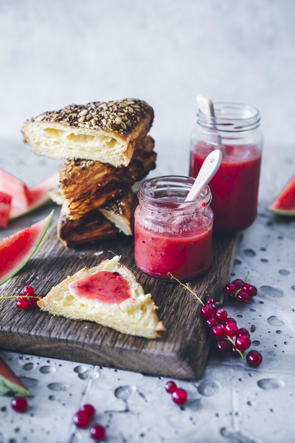 Frische Johannisbeer Melonen Marmelade