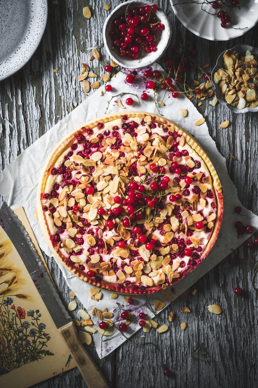 Johannisbeeren Kuchen Marzipan