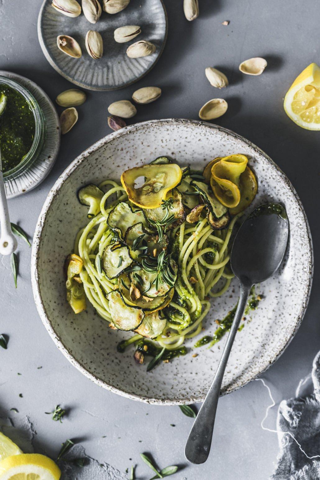 Spaghetti mit Zucchini Pesto