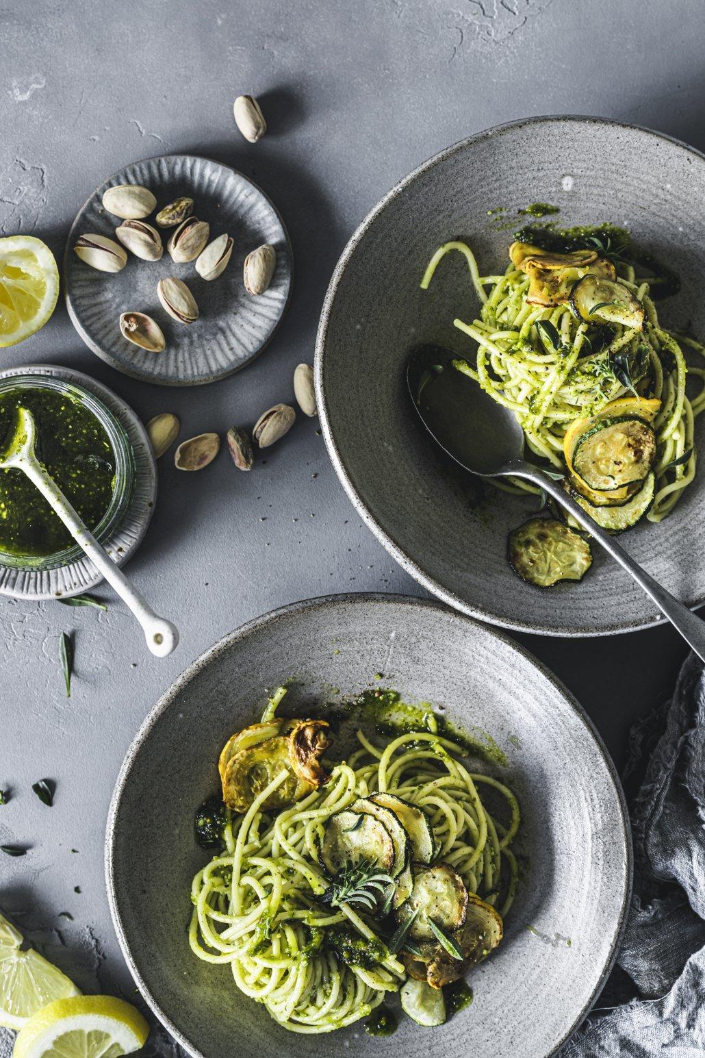 Selbstgemachtes Zucchini Pesto