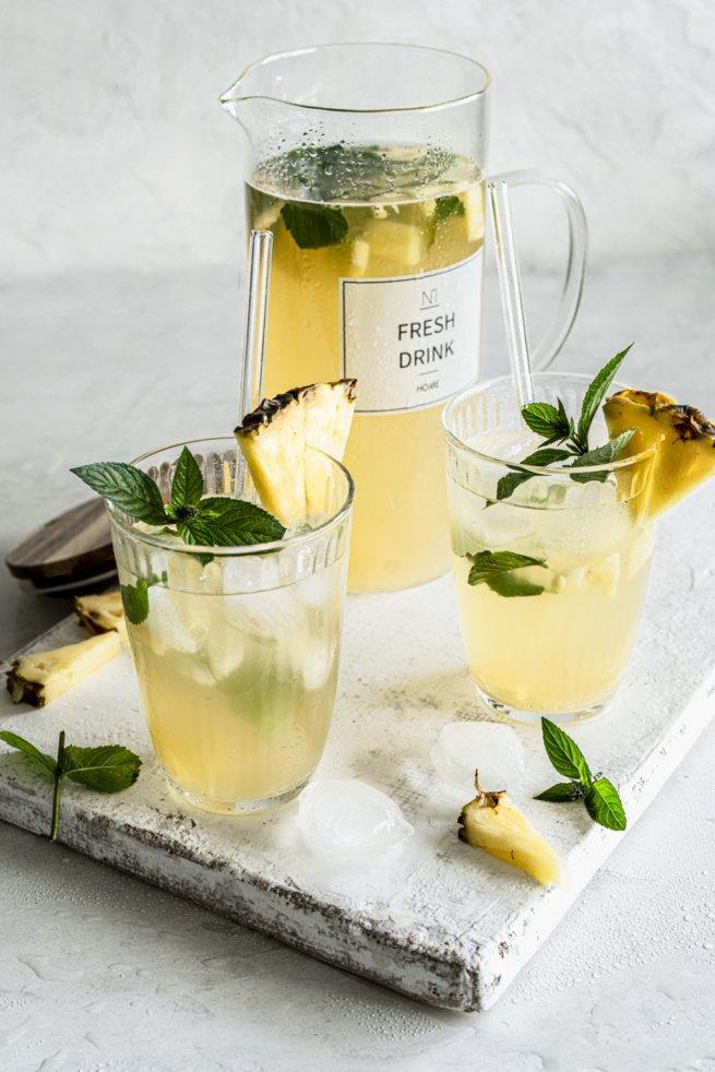Ananas Eistee mit Minze