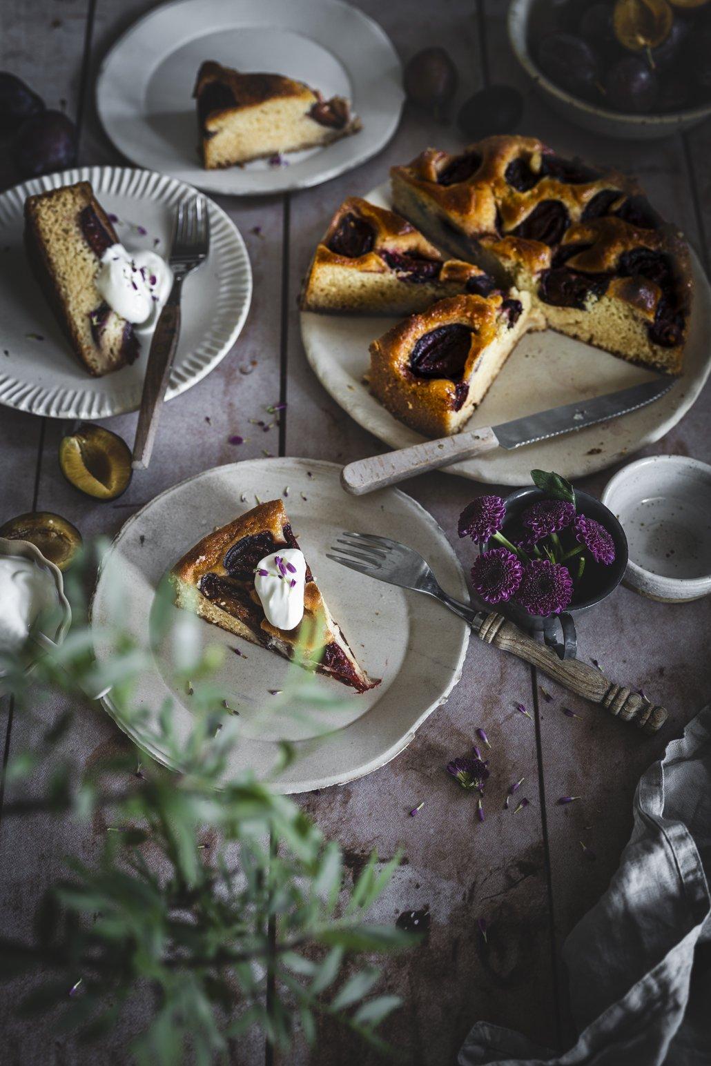Marzipan Zwetschen Kuchen