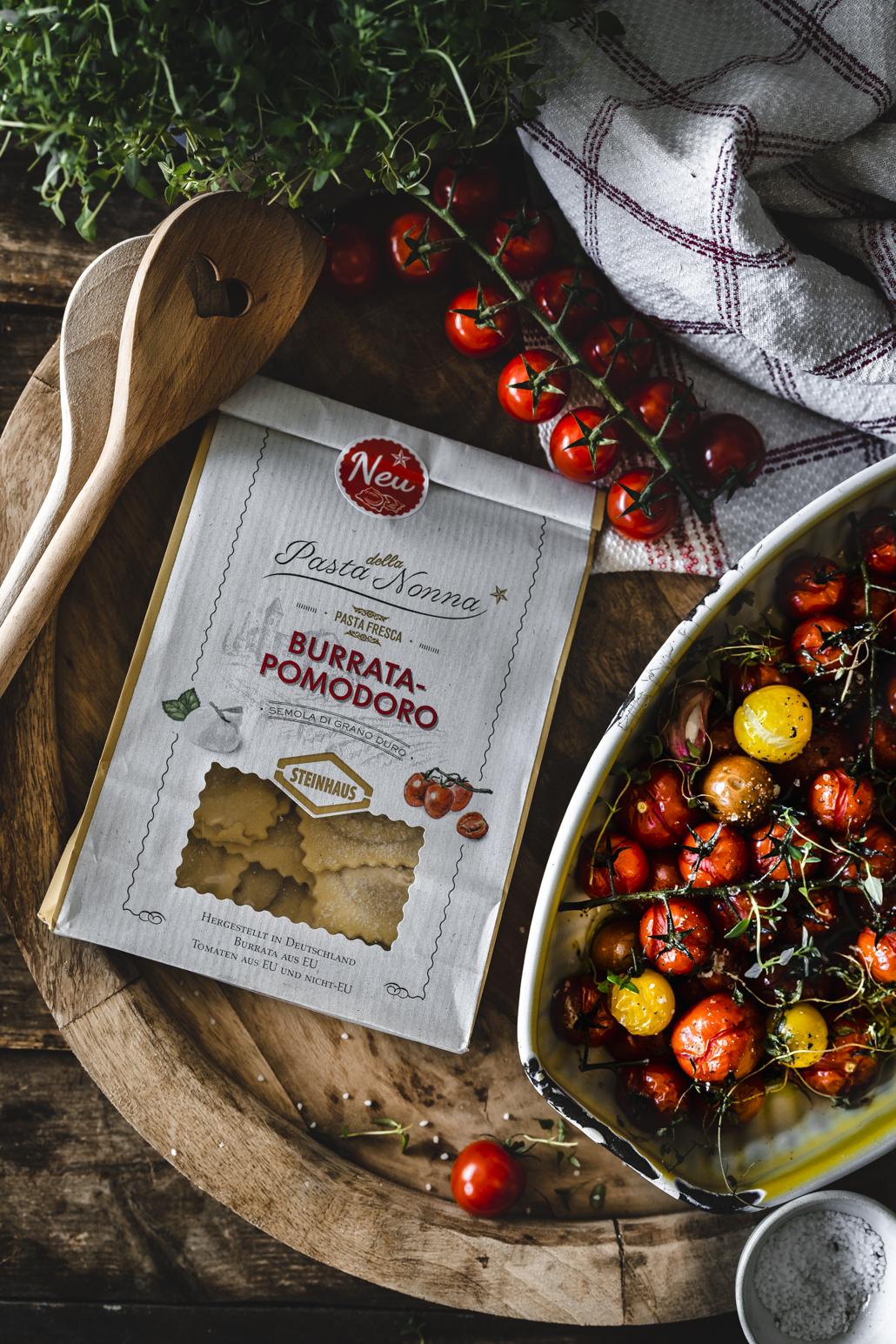 Ravioli mit Tomaten