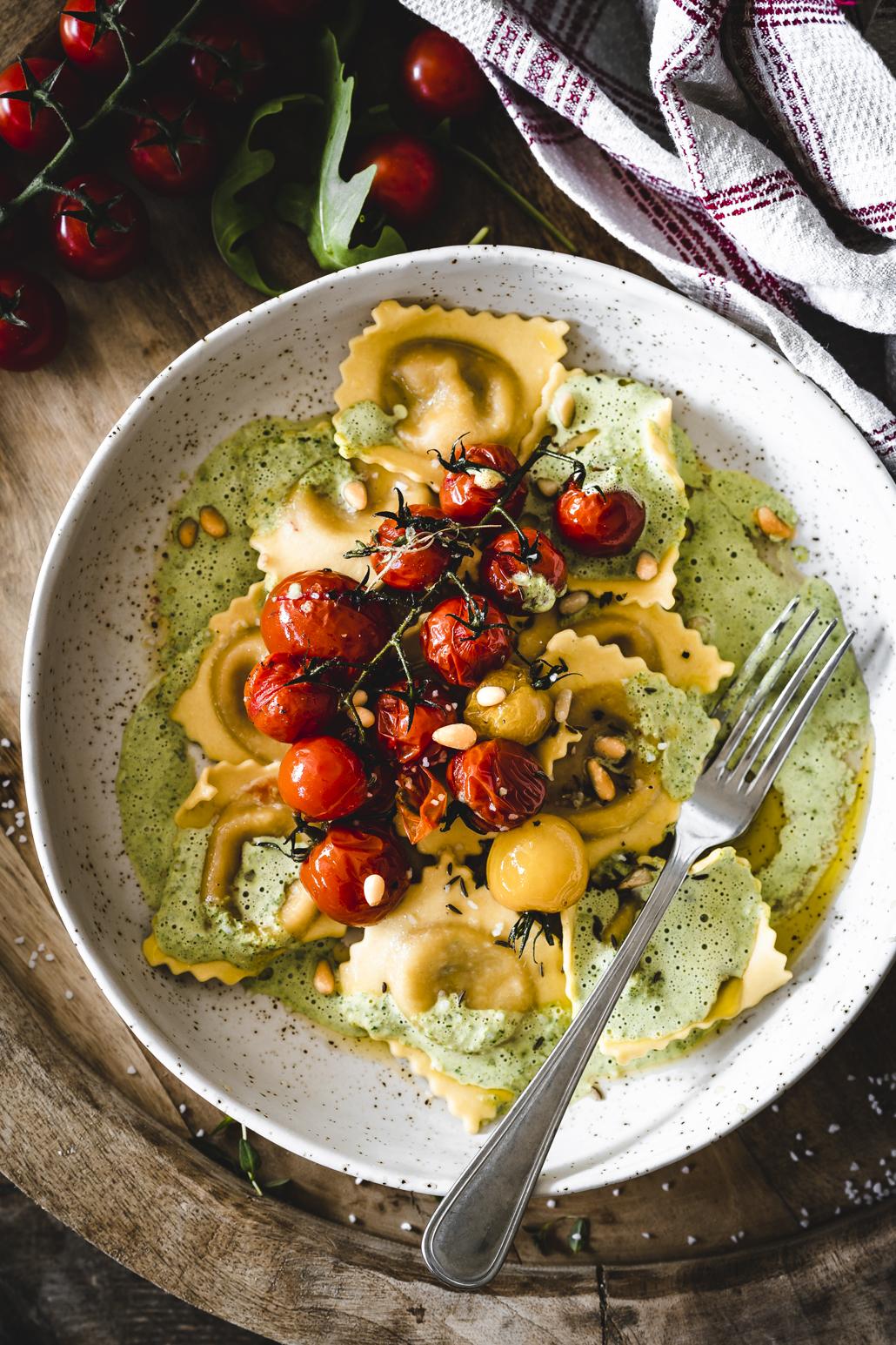 Gefüllte Pasta Burrata Pomodoro