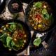 Veganer Linseneintopf mit Spinat
